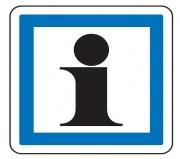 Panneau indication service touristique CE3a - Dimensions (mm) : de 350 à 1050 - Norme CE et NF - Type CE