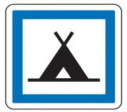 Panneau indication terrain de camping CE4a - Dimensions (mm) : de 350 à 1050 - Norme CE et NF - Type CE