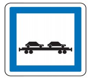 Panneau indication trains autos CE8 - Dimensions (mm) : de 350 à 1050 - Norme CE et NF - Type CE