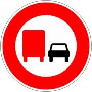 Panneau interdiction au camion de doubler B3a - Dimensions : de 450 à 1250 mm - Norme CE et NF - Type B