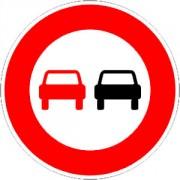 Panneau interdiction de dépasser B3 - Dimensions : de 450 à 1250 mm - Norme CE et NF - Type B