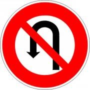 Panneau interdiction demi-tour B2c