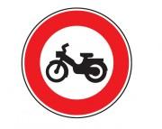 Panneau interdit au cyclomoteur B9g - Dimensions : de 450 à 1250 mm - Norme CE et NF - Type B