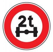 Panneau limitation de poids par essieu B13a - Dimensions : de 450 à 1250 mm - Norme CE et NF - Type B