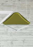 Panneau luminaire et acoustique - dispositif d'éclairage à Led et panneau acoustique
