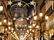 Panneau lumineux horizontal motif étoile filante - Eclairage LED - Dimensions : 75 x 300 cm