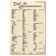 Panneau menu pour bar et brasserie - Dimensions (cm): 60 x 40 - 40 x 30 - 58 x 38