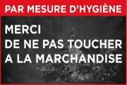 Panneau pas toucher à la marchandise - 2 formats - PVC ou PS