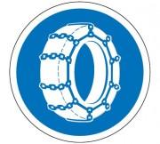 Panneau obligation chaîne à neige B26 - Dimensions : de 450 à 1250 mm - Norme CE et NF - Type B