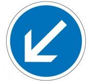 Panneau obligation contourner à gauche B21.a2