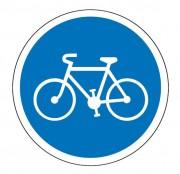Panneau obligation de bande ou piste cyclable B22a - Dimensions : de 450 à 1250 mm - Norme CE et NF - Type B