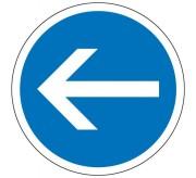 Panneau obligation tourner à gauche B21.2