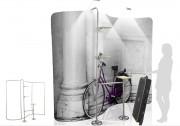 Panneau publicitaire en aluminium - Dimensions : 2500 x  2250 mm