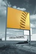 Panneau publicitaire en H - - Plateaux en acier galvanisé ou pré-laqué blanc