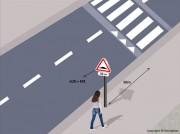 Panneau zone signalée en agglomération - Implantation entre 0 et 50 m