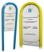 Panneau règlementation aire de jeux - Hauteur hors-sol 1200 mm
