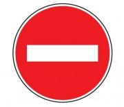 Panneau sens interdit B1 - Dimensions (mm) : de 450 à 1250 - Norme CE et NF - Type B