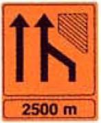 Panneau signalétique orange en aluminium - Panneaux orange autoroute