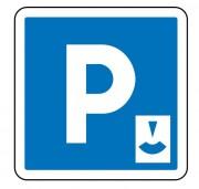 Panneau signalisation d'indication de parking gratuit à durée limitée C1b - Dimensions (mm) : de 350 à 1050 - Norme CE et NF - Type C