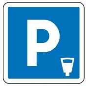 Panneau signalisation d'indication de parking payant C1c - Dimensions (mm) : de 350 à 1050 - Norme CE et NF - Type C