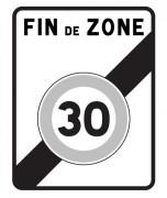 Panneau sortie d'une zone 30 B51 - Dimensions (mm) : 700 x 900 - Norme CE et NF - Type B