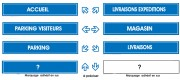 Panneau standard de direction - Dimensions : 900 x 150 mm