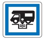 Panneau Station de vidange pour camping car CE24 - Dimensions (mm) : de 350 à 1050 - Norme CE et NF - Type CE