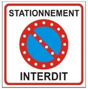 Panneau stationnement interdit led