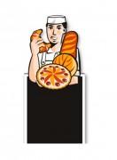 Panneau stop trottoir boulangerie - Format : 60 x 150 cm