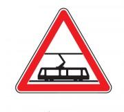 Panneau traversée voies tramways A9 - Dimensions : de 500 à 1500 mm - Norme CE et NF - Type A
