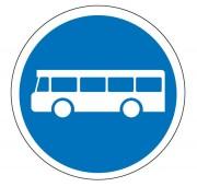 Panneau voie réservée au autobus de transport commun B27a - Dimensions : de 450 à 1250 mm - Norme CE et NF - Type B