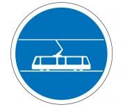 Panneau voie réservée au tramway B27b - Dimensions : de 450 à 1250 mm - Norme CE et NF - Type B