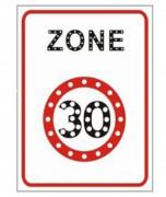 Panneau zone 30 à Led lumineux et dynamique - Panneau de signalisation zone 30 type B30