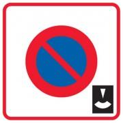 Panneau zone stationnement durée limitée B6b3 - Dimensions (mm) : 500 - 700 - Norme CE et NF - Type B