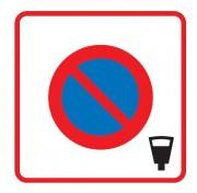 Panneau zone stationnement payant B6b4 - Dimensions (mm) : 500 - 700 - Norme CE et NF - Type B