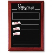 Panneaux d'affichage origine viande pour commerce - Vendu à l'unité - Dimensions (cm) : 65 x 45