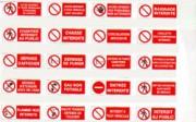 Panneaux d'interdiction avec bandeau - Diam : de 80 à 420 mm