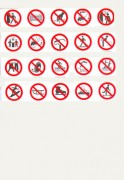 Panneaux d'interdiction en adhésif - En PS Choc ou adhésif