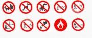 Panneaux d'interdiction en PS Choc - En PS Choc ou adhésif