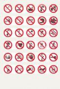 Panneaux d'interdiction sur support adhésif - En PS Choc ou adhésif