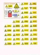 Panneaux de danger PS choc - En support PS Choc et en adhésif.