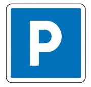 Panneaux de signalisation d'indication de parking C1a - Dimensions (mm) : de 350 à 1050 - Norme CE et NF - Type C