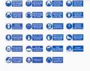Panneaux de signalisation d'obligation avec bandeau - 4 formats disponibles