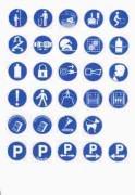 Panneaux de signalisation d'obligation en PS Choc - En PS Choc et adhésifs
