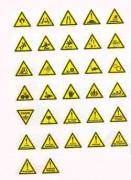 Panneaux de signalisation Danger en adhésifs - En PS Choc et adhésif