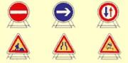 Panneaux de signalisation de chantier - Formes : rond ou triangle