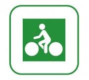 Panneaux de signalisation des pistes cyclables DV11 - Dimensions (mm) : 200 x 200