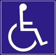 Panneaux de signalisation handicapé - En PVC - Aluminium - Vinyle adhésif
