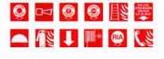 Panneaux de signalisation incendie en PS Choc - Format 200 x 200 mm