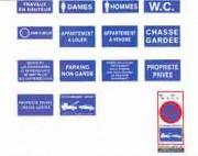 Panneaux de signalisation instruction en PS Choc - En PS Choc et en adhésif